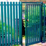 Как сделать калитку и ворота из металлического штакетника