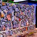 Строительство забора из натурального камня