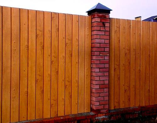 ограда из сайдинга
