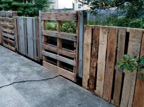 паллетный забор
