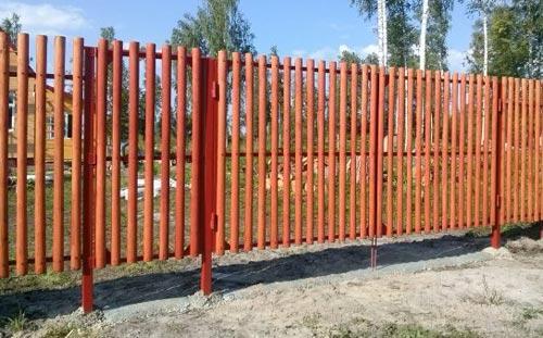 ограда из березы