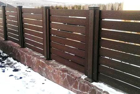 ограда из ДПК
