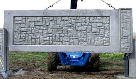 Монтаж забора из бетонных плит
