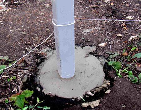 бетонирование столба