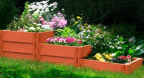 клумба садовая доска