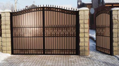 оформление кованых ворот
