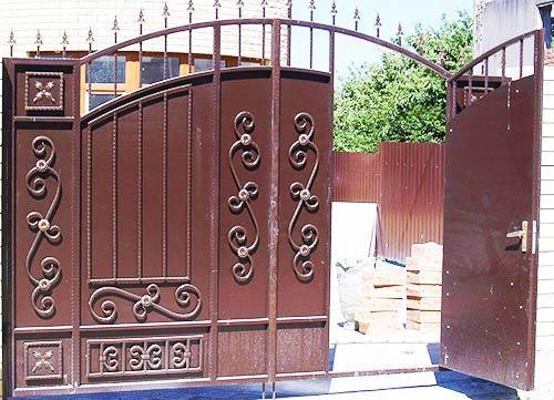 кованные ворота калитка