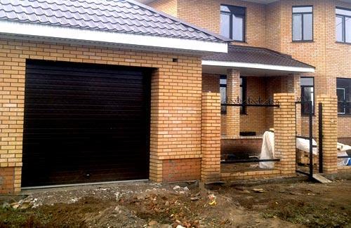 проект забора гаража