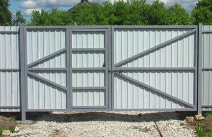 ворота встроенная калитка