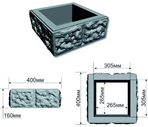 схема блок из бетона