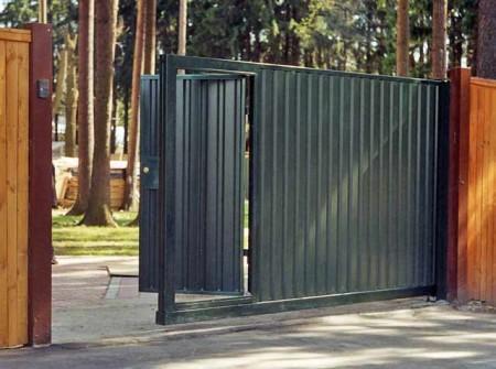 Простые откатные ворота