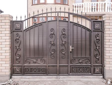 Ворота распашные своими руками фото фото 105