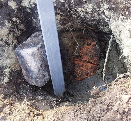 заливка столба бетоном