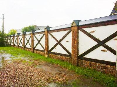 забор фахверк