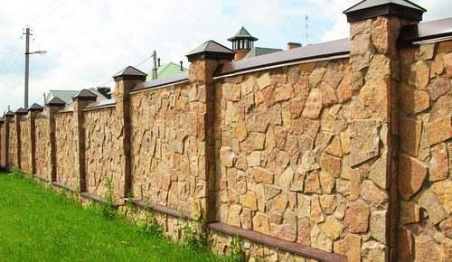 забор декоративный камень