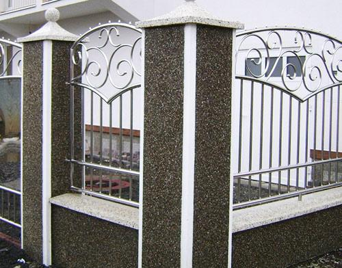 комбинированный забор