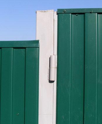 Как приварить петли к воротам из профнастила