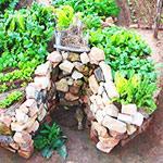 Как сделать грядки из камня на даче