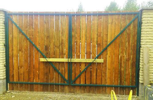 Как сделать засов на ворота