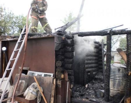 Пожар на участке
