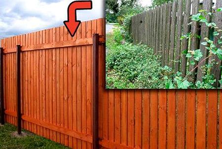 обработанный забор