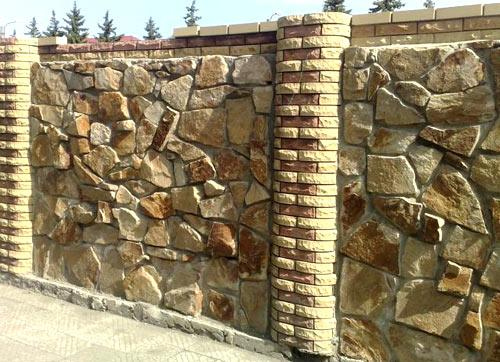 забор бутовый камень