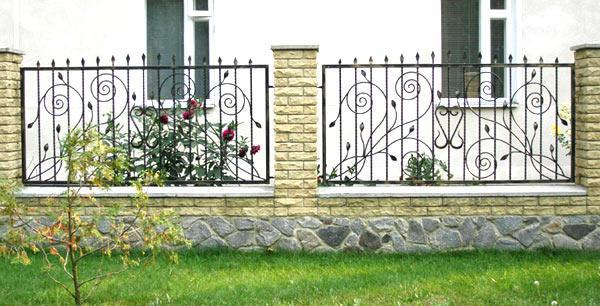 забор прованс кованый