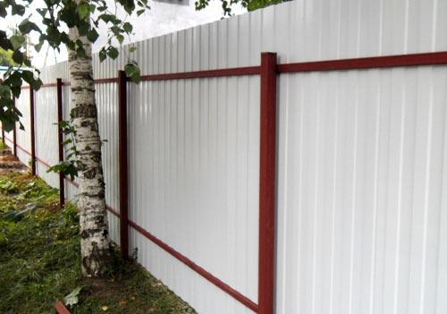 забор металлический профиль