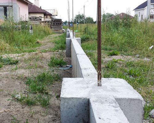 столбы забор