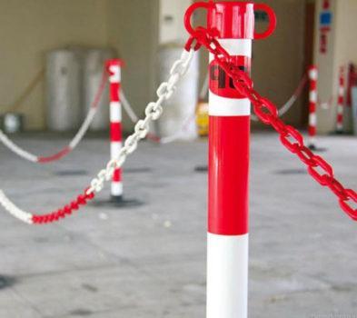 Применение цепи для ограждения
