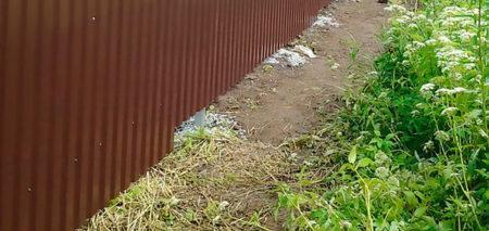 забор глина профлист