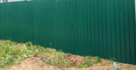 забор глина